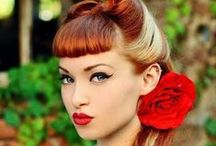 Retro Hair & Makeup / Pinup Hair & Make-up inspiration from around the web. We use youtube and pinterest tons for inspirtation for ourselves and www.retroglam.com #retroglam #retroglamclothing #pinup #pinupdresses #fashion