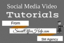 Tutorials - Social Media Videos / Follow this board to watch our informative social media tutorials to help you stay socially informed.  All the social media how to tips are ones we actually use and are part of our proven social media strategies that work.  You can get more information at http://SmartOfficeHelp.com