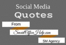 Quotes | Social Media / Social media quotes to motivate you with your social media management.  #CrazySocialMediaTips