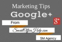 Tips - Google+ Tips for Business Marketing - Google Plus Tips for Business Marketing / Google is second to none when it comes to search engine optimization.  Entrepreneurs should maintain a social media profile on this highly active social media network.  We are sharing all the tips we an find to maximize Google+ profiles. Follow this board and come over to http://SmartOfficeHelp.com for more tips.