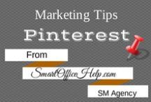 Tips - Pinterest Marketing Tips / Learn how to rock your Social Media with Pinterest Board Tips & Pinterest Pin Tips . I'm always looking for ways to up my Pinterest game.  You're in the right place if you need a little help.  OR you can join our community at SmartOfficeHelp.com/blog . We love social media.