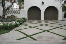 Concrete Driveway Idea Board / Stamped and colored concrete driveways add aesthetic beauty and value to your home.