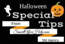 20 Days to Break the Social Media Spell / 20 Days of Social Media Tips created with a Halloween Theme.  However these tips are great for any day of the year.  I challenge to follow this spooky board.