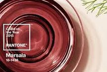 Marsala Pantone Color of the Year 2015 / Marsala is the 2015 Color of the Year. a red-wine color that's darker, richer, and deeper than last year's Radiant Orchid. Marsala's robust burgundy hue pairs well with a variety of other colors and décor. It is an evocative shade