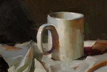 CUPS, Painted that is... / Only cups painted by artists / by Jackie McIntyre