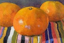 """""VARIETY OF CITRUS, Painted that is... / ALL ABOUT PAINTINGS OF LEMONS,ORANGES,LIMES AND GRAPEFRUITS / by Jackie McIntyre"