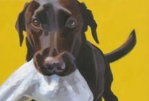 DOGGIES, PAINTED THAT IS.... / some amazing portraits of dogs, some with a quirky look or a captured personality...
