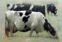 COWS...Painted in Art / I just Love a good painted cow....