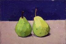 PEARS, Painted that is... / pears depicted in art / by Jackie McIntyre