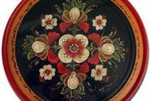rosemaling(норвежская роспись)