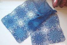 Crochet shawl,scarf(шаль,шарф)