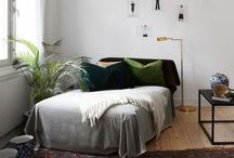 in bed. / bedroom materials and spaces