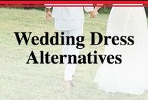 Wedding Dress Alternatives / Who says you can only wear a dress?  Pantsuits, jumpsuits and more.