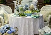 Outdoor living and dinning / Dinning outdoors for weddings, receptions, and just because, we love too in the South!