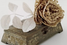 fabric & paper flowers / by Linda Reese