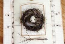 bird, nest & egg art