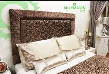 Headboards / Deep-buttoned, crystals, diamond trim or even contrast piping - make your bedroom a palace with a Killymoon headboard. Each piece conveys pure luxury with a commanding presence in any bedroom. Each of our headboards can also be made into bedframes.
