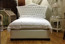 Bed frames / Killymoon's handmade upholstered bedframes are available in various sizes and in a range of fabric options.