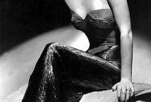 Vestidos de película III / Vestidos de actrices clásicas dentro y fuera de la pantalla