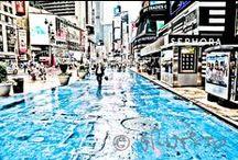 """#walkingnyc pamplona / 30 escenas de Nueva York en tinta y color >>  Exposición en el Café del Baluarte del 26 de octubre al 17 de noviembre 2013 >> 30 instantáneas de la vida cotidiana neoyorkina, reveladas con una técnica tipo cómic denominada """"tinta y color"""" >> eb"""