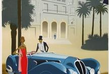Art Deco / I want a selection of these printed poster size to go up the stairs in my french house.
