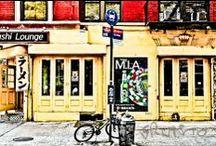 """#walkingnyc madrid / 21 escenas de Nueva York en tinta y color >>  Exposición en Madrid en diciembre 2013 >> 21 instantáneas de la vida cotidiana neoyorkina, reveladas con una técnica tipo cómic denominada """"tinta y color"""" >> eb"""