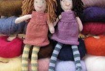 Knitting & crochet: dolls / Вязаные куклы и вязаные аксессуары для кукол