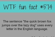 Fun Facts .... / Cool and fun facts