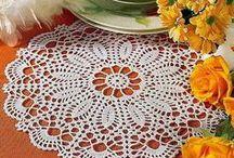 Crochet doilies & tablecloth / Идеи и схемы