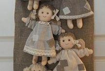 Textile doll / Текстильные куклы, тряпиенсы, тильды. Идеи и выкройки