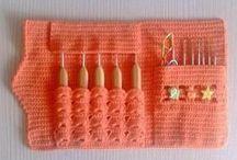 Crochet & Textile: organizer, basket, cases, сovers / Корзины, коробки, чехлы, футляры, органайзеры: идеи и схемы