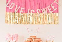 LOVE Party Fiesta / Decoración de fiestas #deco #party #fiesta #idea
