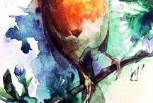 My work/Watercolour/Acrylic / Акварель