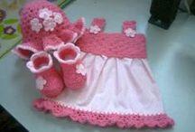 vestidos de crochet con tela / by Blanca Olvera