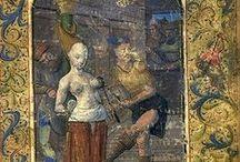 """Moyen-Âge3 Miniatures / C'est à travers les missels et autres livres d'heures (servant aux laïcs à prier, sans l'aide des """"clercs"""") que se sont développées les """"miniatures"""" au Moyen-Age, c'est à dire de petits dessins ou peintures représentant la vie quotidienne (cf. les """"calendriers"""") ou l'histoire religieuse .. Les miniatures sont souvent de très belles oeuvres.. merci de vous intéresser à celles contenues dans ce """"tableau pinterest""""(3000) .. abonnez-vous ! Bienvenue !!"""