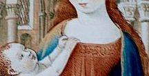 """Moyen-Âge4 Très riches heures du duc de Berry : calendrier, ancien et nouveau testaments. / Au Moyen-âge, le livre d'heures est un livre de prières réservé aux laïcs (non prêtres). Celui intitulé """"Les très riches heures du duc de Berry"""" est sans doute le plus beau de tous..Comme tous les livres d'heures il comporte un """"calendrier"""" .. Ce tableau a pour but de vous présenter ce calendrier dans le détail (suivez l'ordre de numérotation des """"épingles"""" !) mais aussi les miniatures liées à l'ancien et au nouveau testaments."""