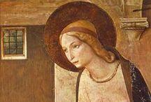 Art et Nouveau testament / Voir aussi les 3 tableaux du Moyen-Age (miniatures, lettrines, Très riches heures du duc de Berry) contenant de nombreuses miniatures religieuses
