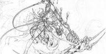 """""""O Ébano E O Marfim""""(Ebony And Ivory) / a arte de desenhar"""
