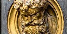 Italia2 Firenze2  Portes du baptistère (Lorenzo Ghiberti 1378-1455 et autres) / à suivre
