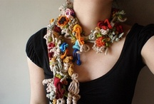 Knit & Crochet Jewelry / This board shows examples of beautiful knit and crochet jewelry (such a French knit jewelry, cuffs, neck pieces, beaded items, and beyond)