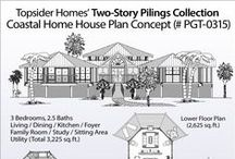 Two story piling collection pgte 0101 1563 sq ft 3 for 3 story beach house plans on pilings