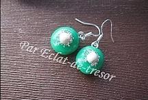 Boucles d'oreilles / Boucles d'oreilles en argent, bronze, de toutes les couleurs