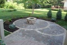 Circular Patio / A circular paver patio project in Edina, Minnesota completed by Barrett Lawn Care.