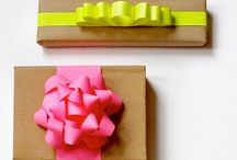 Perfect Present Presentation / Everyone loves presents so why not heighten the suspense with these great gift wrapping ideas!