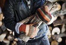 Men's Sweater Mittens & Gloves / Baabaazuzu recycled, fleece-lined sweater mittens for men are warm and fashionable. Each pair is carefully coordinated and pieced together with upcycled sweaters in a wide range of color and pattern combinations.