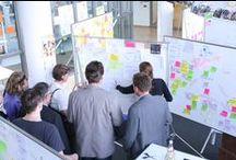 Ready for Design Thinking........... / System180 uit Berlijn heeft samen met de HPI School of Design Thinking (D-school) aan de Hasso-Plattner-Intituut te Potsdam de DT-line ontwikkelt. Het modulaire systeem bevordert de calloboratie van nieuwe oplossingen en daarmee het Design Thinking proces