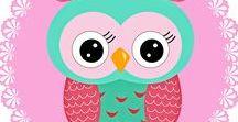 *CORUJAS (IMAGENS) OWLS (IMAGES) / http://patyshibuya.com.br/category/corujas-papel-arroz/