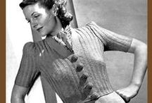 Vintage Knitwear / We love vintage knitwear and patterns!