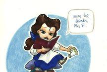 Pocketprincesses / If Disney princesses lives together...