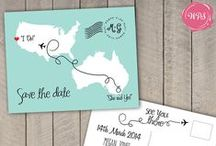 Wedding Stationery / Wedding invitations, save the dates, RSVP cards, signs and more!